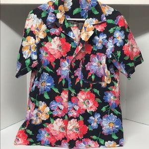 Other - Vintage Men's Floral Summer Shirt